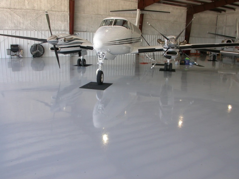 Aircraft Hanger painted by London Surface Painters